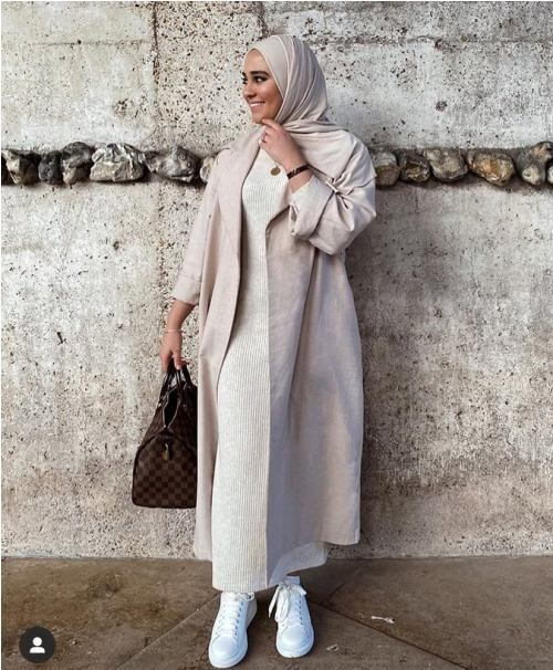 Cute cozy winter hijab style -   18 style Hijab winter ideas