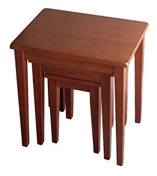 Stackable End Tables Wood Nesting Tables Winsome Wood Nesting