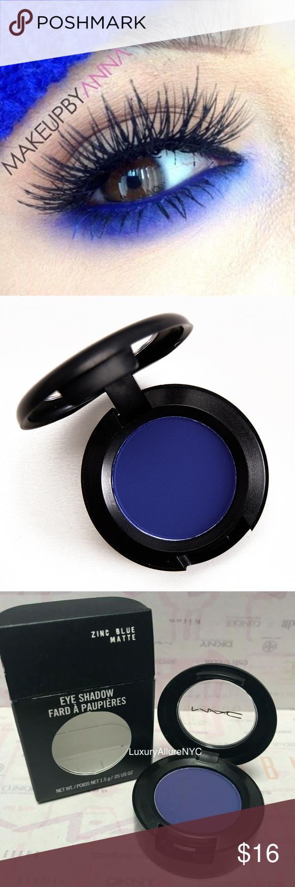 NIB MAC Eyeshadow ZINC BLUE MATTE Mac eyeshadow