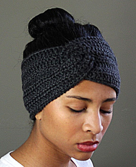 Twisted Crocheted Headband Earwarmer, $18.00 | Clothes and ...