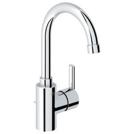 GROHE Feel Starlight Chrome 1-Handle Single Hole Bathroom Sink ...