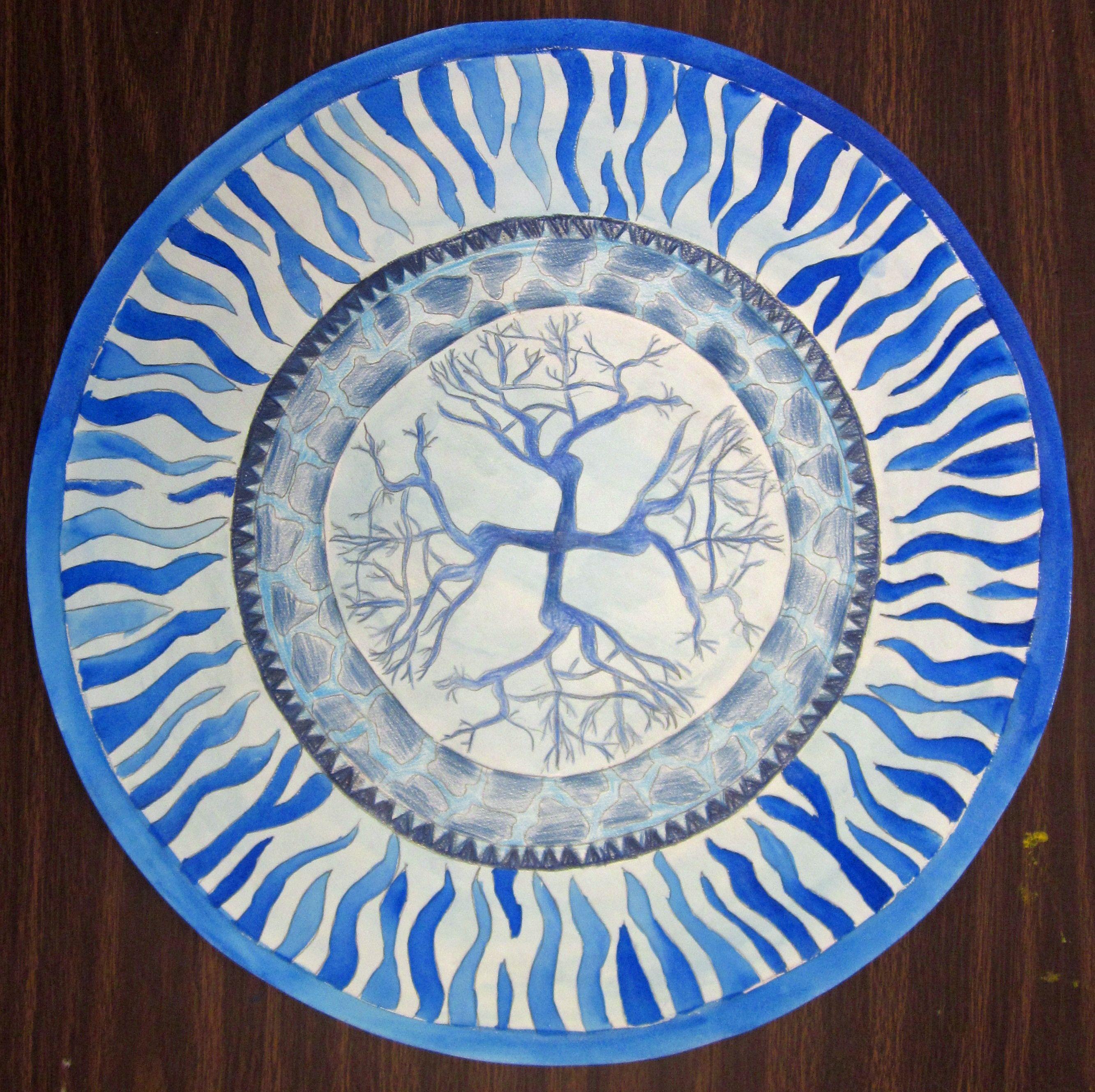 Jorge S Chinese Blue Amp White Plate Design 8th Grade