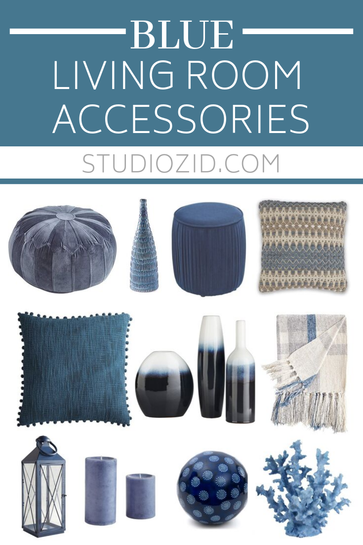 Blue Living Room Accessories Blue Living Room Blue Living