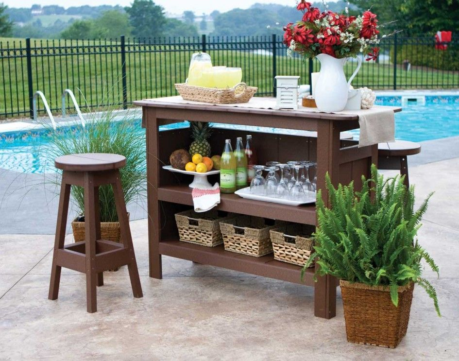 Brilliant Small Outside Wooden Bar Alongside Wicker Garden Planters And Small Garden Swimming Pools Also Diy Outdoor Bar Outdoor Bar Furniture Outdoor Bar Sets