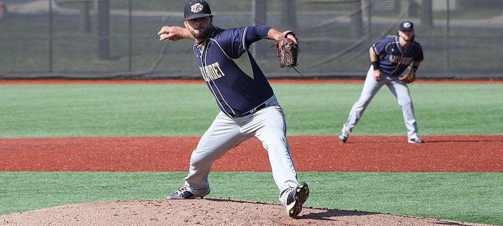 Albert Blake Masterful As Bison Win In Extra Innings Over Lancaster Bible Gallaudet University Bible College Baseball Team