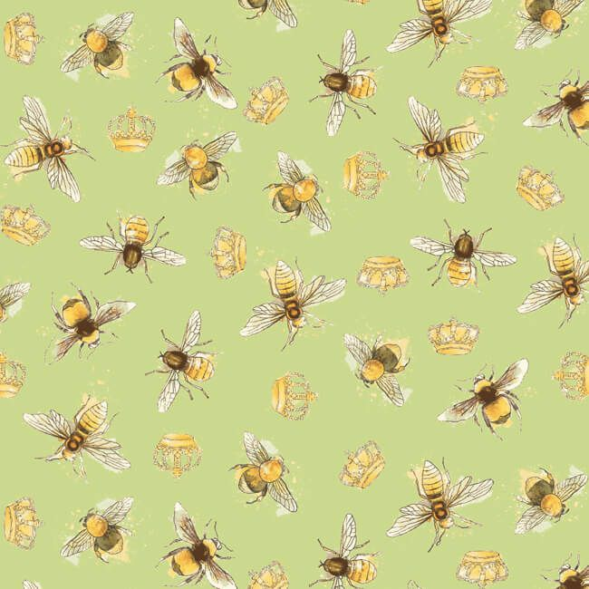 Sunflower Bumble Bee Yellow Cotton Fabric Windham Bee My Sunshine By The Yard