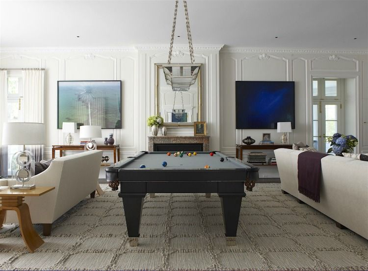 Things We Love Westchester Style Design Chic Pool Table Room Living Room Designs Living Room Remodel