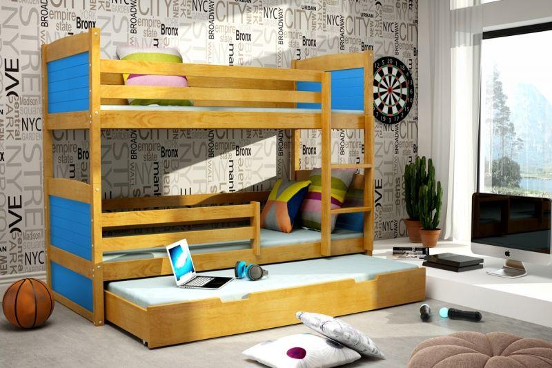 Etagenbett Kinder 3 : Etagenbett fur kinder doppelstockbett ta rkis hochglanz links