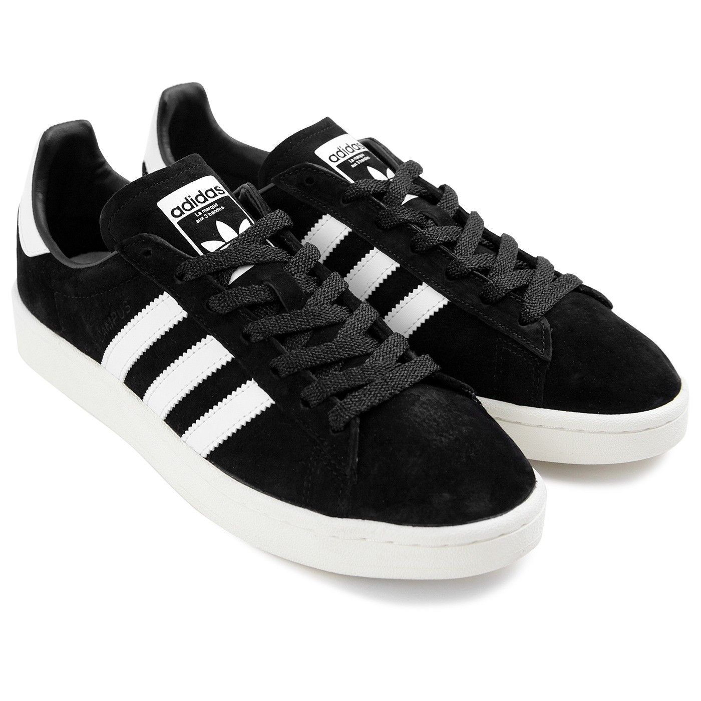 black adidas campus shoes