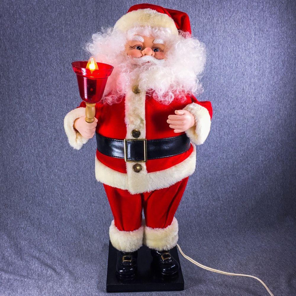 Vintage 2ft animatronic santa claus animated illuminated for Animated santa claus decoration
