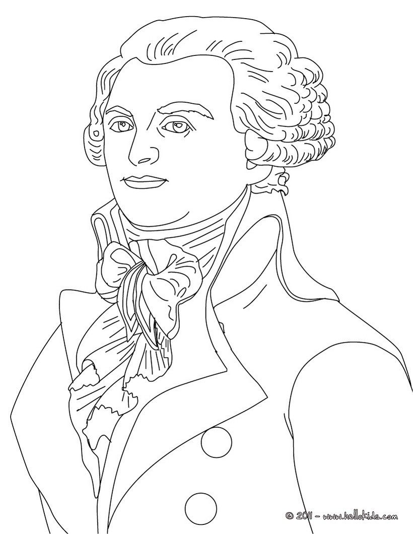 ROBESPIERRE coloring page | Mystery of History 4 | Pinterest