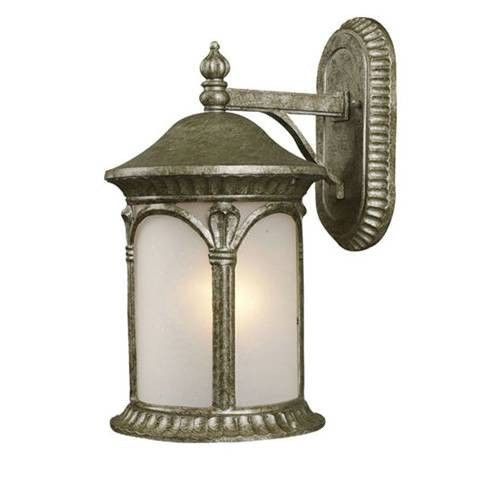 Z-Lite Hampton Collection Antique Silver Finish Outdoor Wall Light