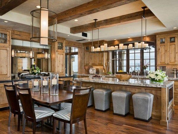 luxus interieur design idee sennhutte im gebirge, rustikales landhaus-holzwand marmor kuche | timberframe home ideas, Design ideen