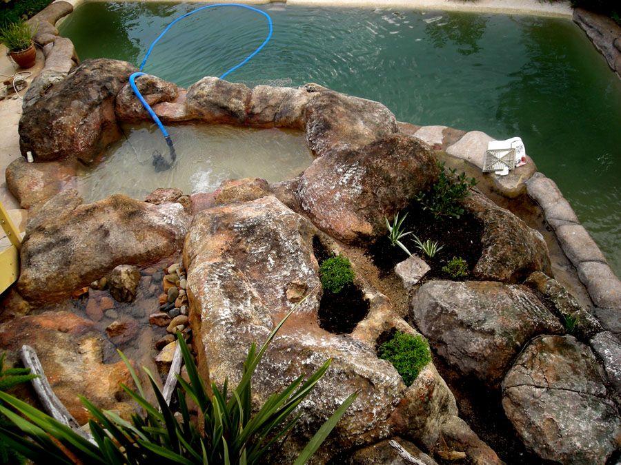 Picture Of Rocks In Garden Pools | Handmade Artificial Rock Mountain  Waterfall