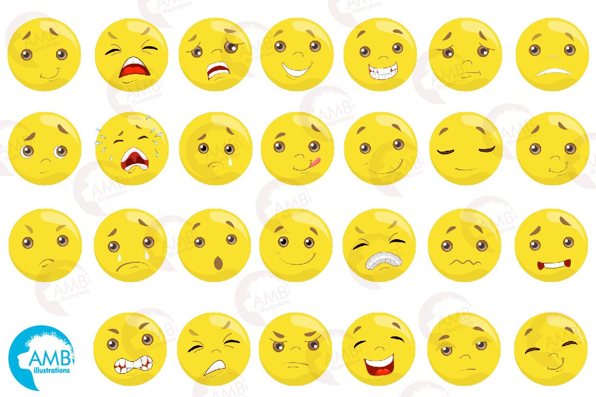 Emoticons Clipart (Graphic) by AMBillustrations · Creative