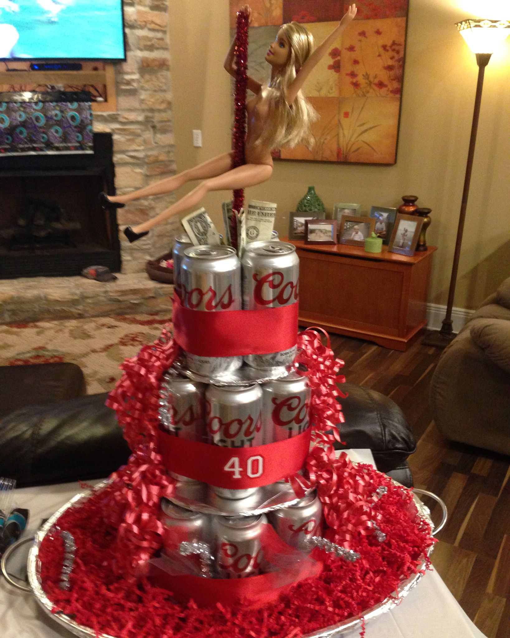 Pretty sure this is the best beer can cake ever