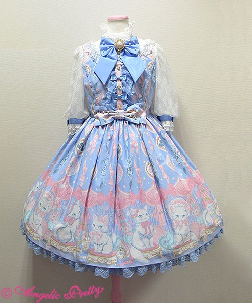 Angelic Pretty Dolly Cat OP in Sax