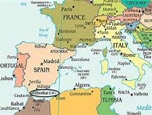 location of Rock of Gibraltar map Bing Images Spain Pinterest