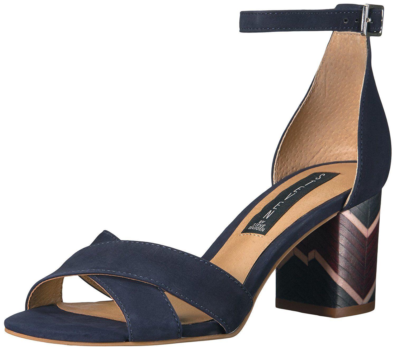 Steve Madden Women's Diamonde Dress Sandal, Red Patent, 7.5 M US