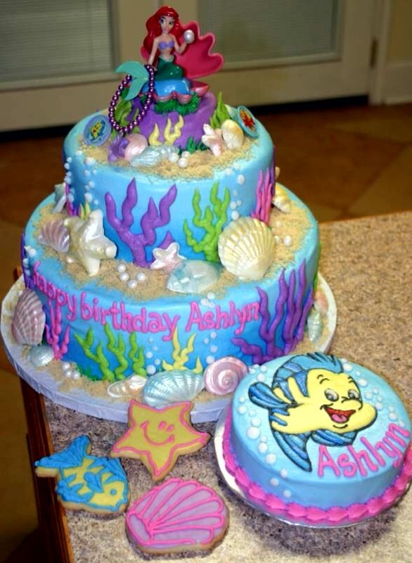Tier Little Mermaid Cake Couture Cakes Events Cakepins