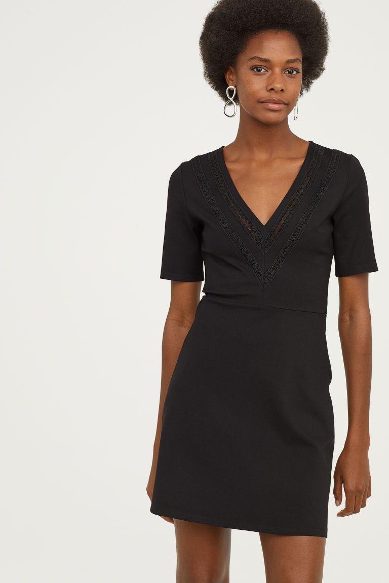 H&m green lace dress  HuM Dress with Lace Details  Black  work bitch  Pinterest  Lace