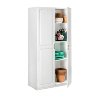 ClosetMaid 36 In. Laminated 2 Door Raised Panel Storage Cabinet In White  12316 At The Home Depot   Mobile