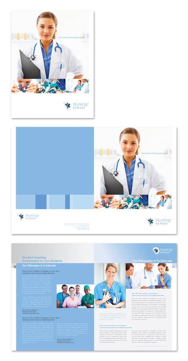Nursing School Brochure Template  Impressos