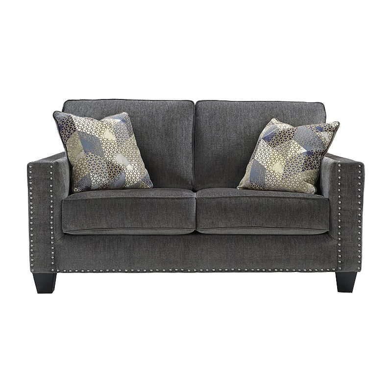 Amazing Signature Design By Ashley Gavril Track Arm Loveseat Cjindustries Chair Design For Home Cjindustriesco