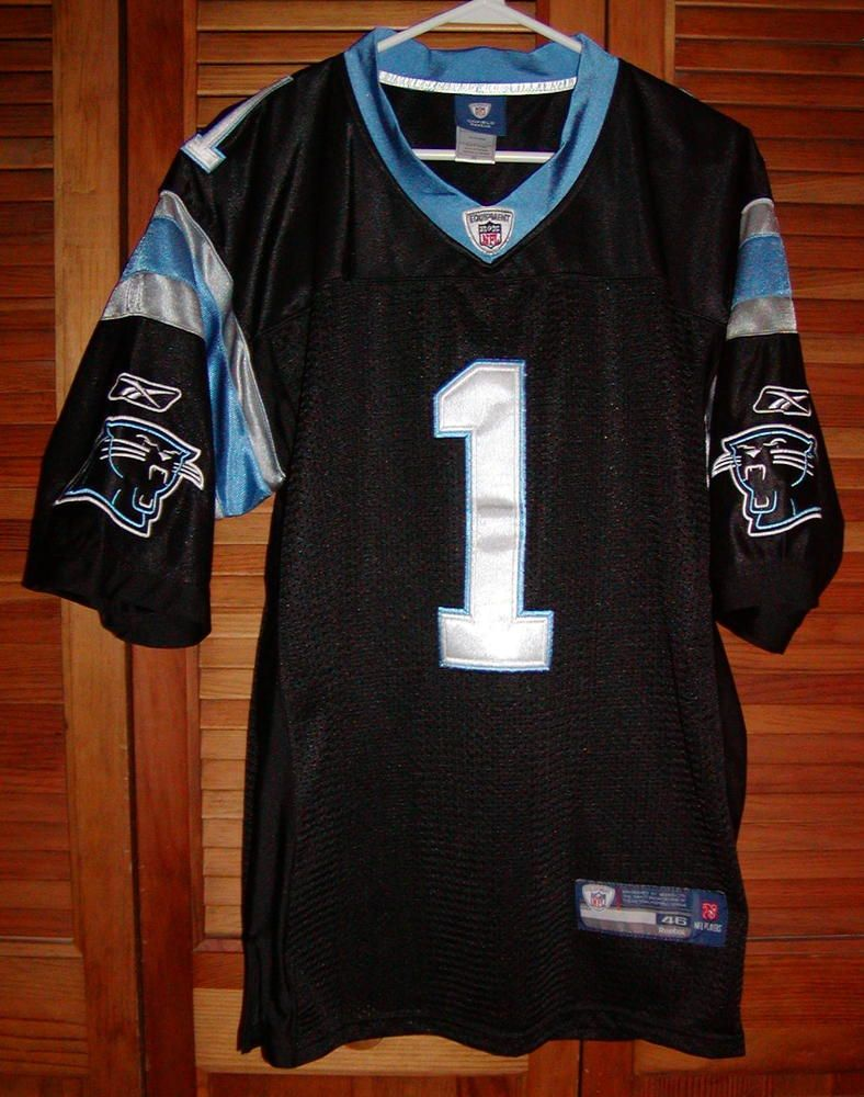 726038290 Authentic Cam Newton Carolina Panthers Reebok  NFL Equipment Rookie Jersey  Sz 46 from  65.0