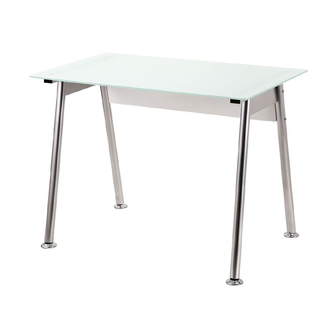separation shoes ae0b5 ba4d3 Workspace 1000mm Glass Desk White/Silver | Warehouse ...