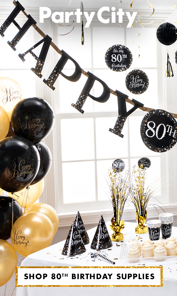 Shop Party City For 80th Birthday Supplies