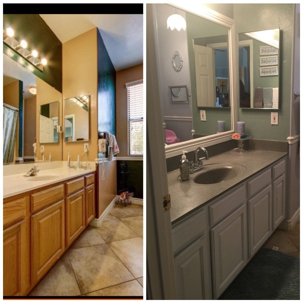 Little Bathroom Makeovers my little bathroom makeover for $50 | countertops, the o'jays and