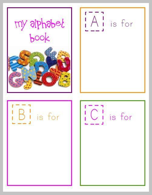 Free Printable Alphabet Book For Preschoolers Preschool Alphabet Book Alphabet Book Abc Book Template