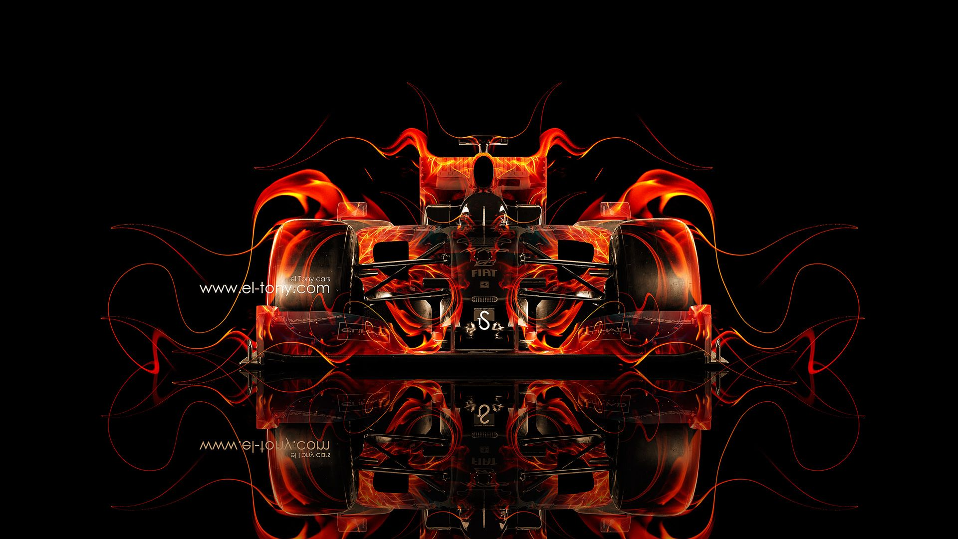2014 F1 Car Design | ... Car 2013 Ferrari Enzo Side Fire Abstract Car