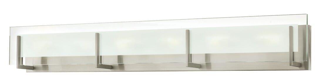Photo of Hinkley Latitude LED Zeitgenössische Waschtischleuchte aus gebürstetem Nickel