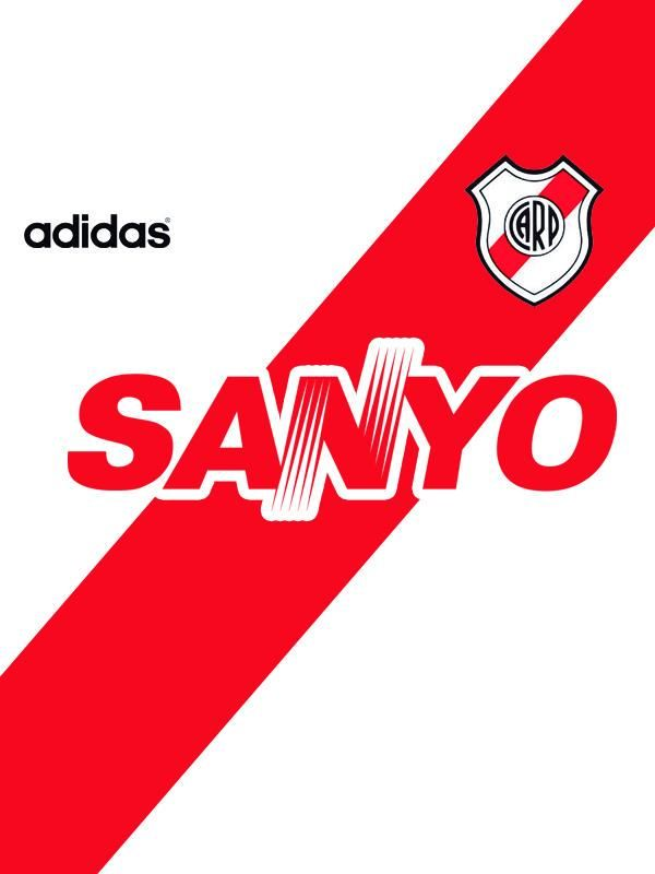 Camiseta de  River  1994  Sanyo  Adidas Futebol Internacional f7dfc7f912180