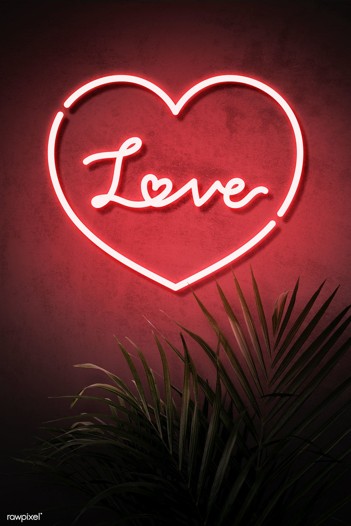 Neon Red Heart Frame With Love On A Wall Premium Image By Rawpixel Com Nam Vector Vectoart Digitalpainting Digitalartist Neon Signs Love Neon Sign Neon