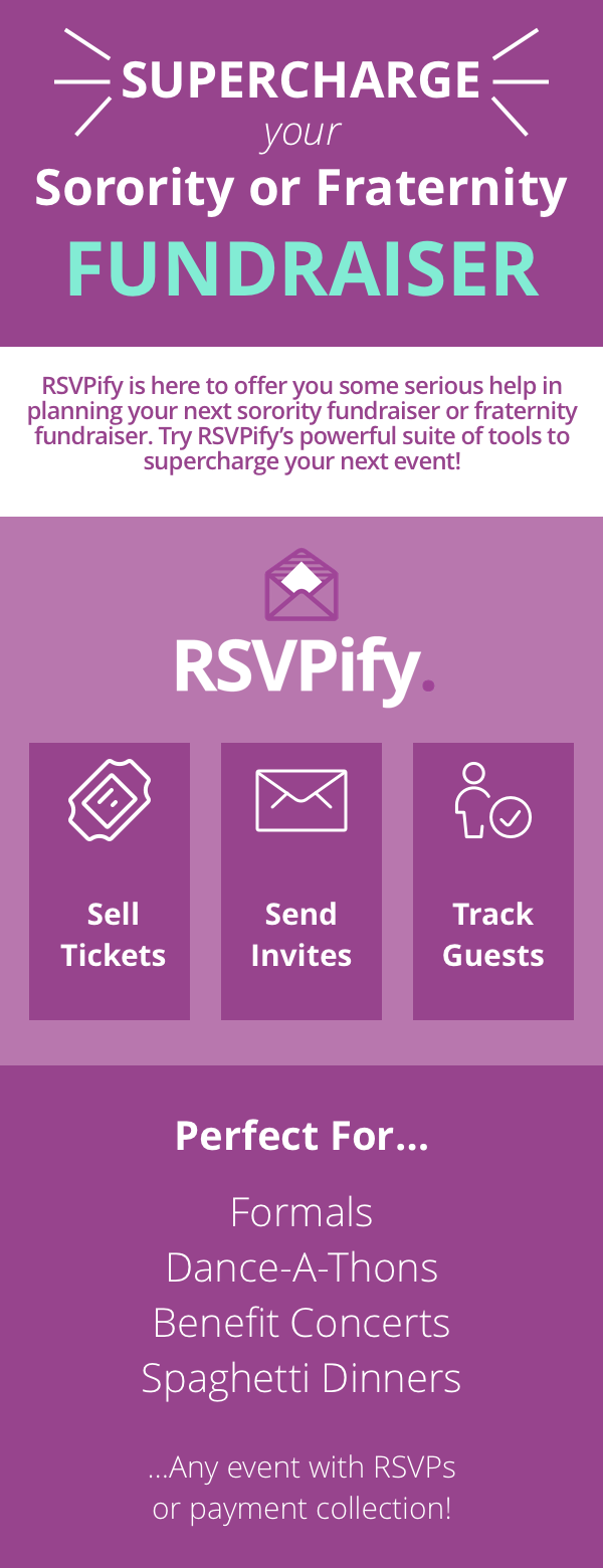 let rsvpify supercharge your sorority fundraiser or fraternity