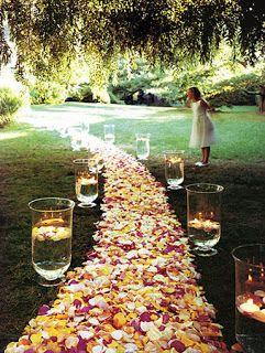 Backyard Wedding I Love The Idea Of The Large Vases Filled With - Elegant backyard wedding ideas