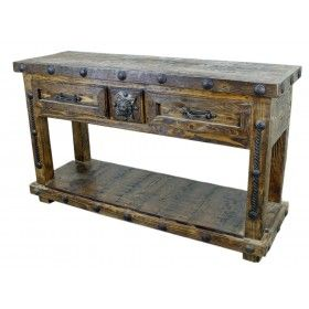 Old World Furniture Console Table With Lion Clavo