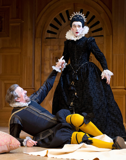 Mark Rylance and Stephen Fry in Twelfth Night theatre