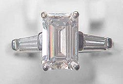 GIA 1.32 Carat Emerald Cut Diamond VVS1 E Color.