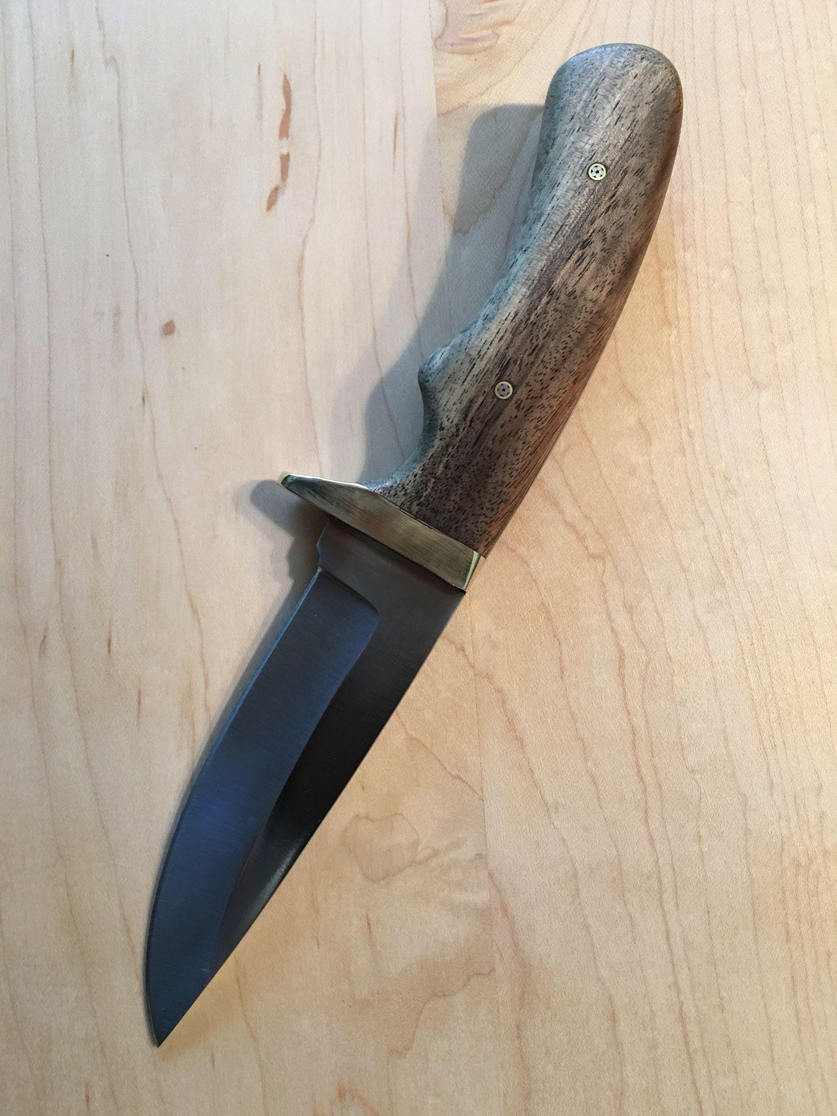 Walnut Drop Point Full Tang | Autry Custom Knives | Knife handle