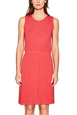 ESPRIT Damen Kleid 067EE1E011, Rot (Red 630), X-Small Damen Kleid ...
