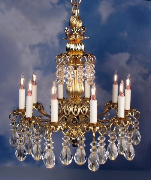 Dollhouse Chandelier Tutorial: Dollhouse Miniature Lighting Electrical CHANDELIER