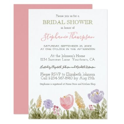 Spring Watercolor Flowers Bridal Shower Invitation floral style