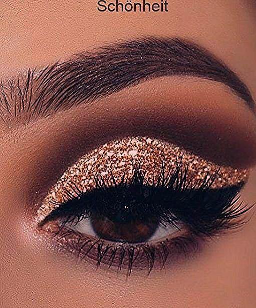 Photo of Gold Glitter Lidschatten; Make-up Anleitung; Make-up für braune Augen; Wieder gut machen … …