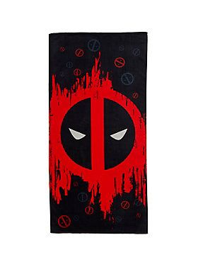 Marvel Deadpool Beach Towel Beach Towel Deadpool Symbol Marvel