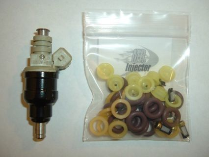 This port fuel injector service kit includes filters, pintle caps
