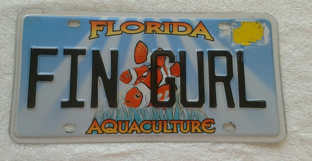Florida Aquaculture Vehicle Plate with Clownfish, 3+ yrs